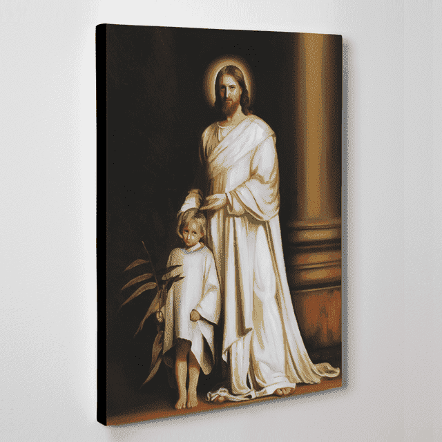 기독교 성화 : 예수님과 어린아이 (70X50CM)