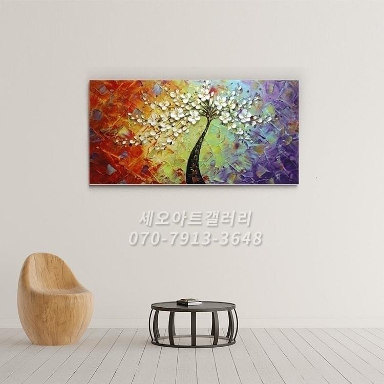 유화 꽃그림 3 (60X120CM)