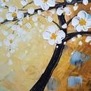 유화 나무 그림 (50X100CM)