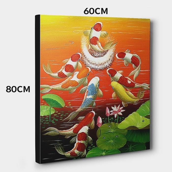 구어도 (비단 잉어) 그림 3 (80X60CM)