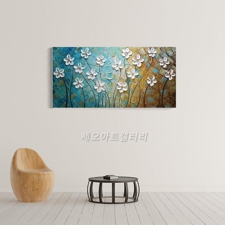 유화 꽃그림 7 (40X80CM)