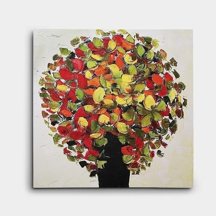 유화 꽃그림 7 (50X50CM)