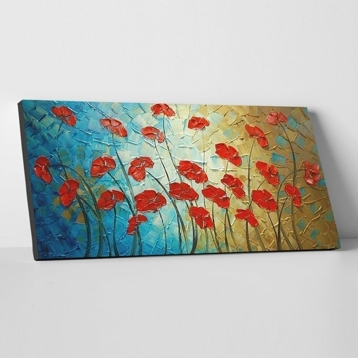 유화 꽃그림 9 (40X80CM)