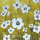 아름다운 노란 꽃 그림 (50X50CM)