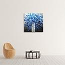 아름다운 파란 꽃 그림 (50X50CM)