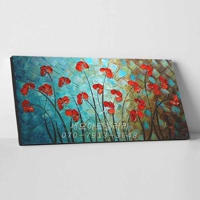 유화 꽃그림 8 (40X80CM)