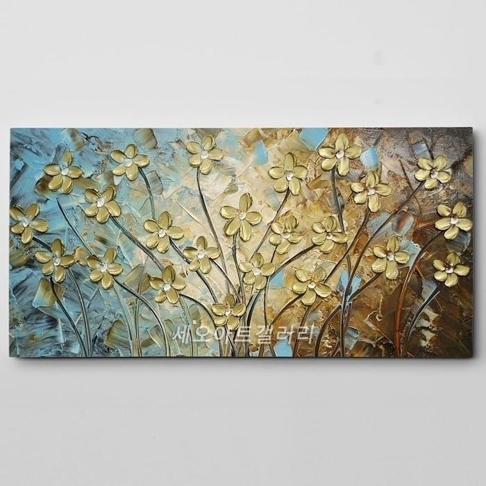 유화 꽃그림 10 (40X80CM)