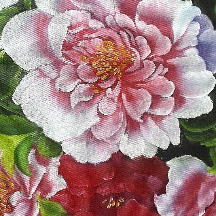 부귀화 - 모란꽃 (목단꽃) 그림 2 (60X60CM)