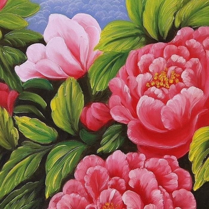 부귀화 - 모란꽃 (목단꽃) 그림 4 (70X50CM) 3