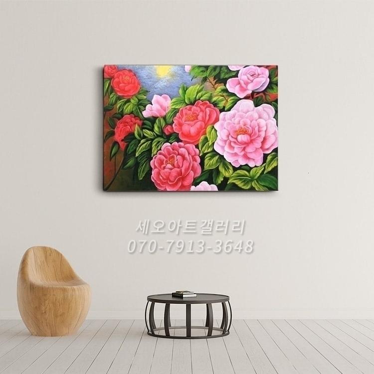 부귀화 - 모란꽃 (목단꽃) 그림 4 (70X50CM)