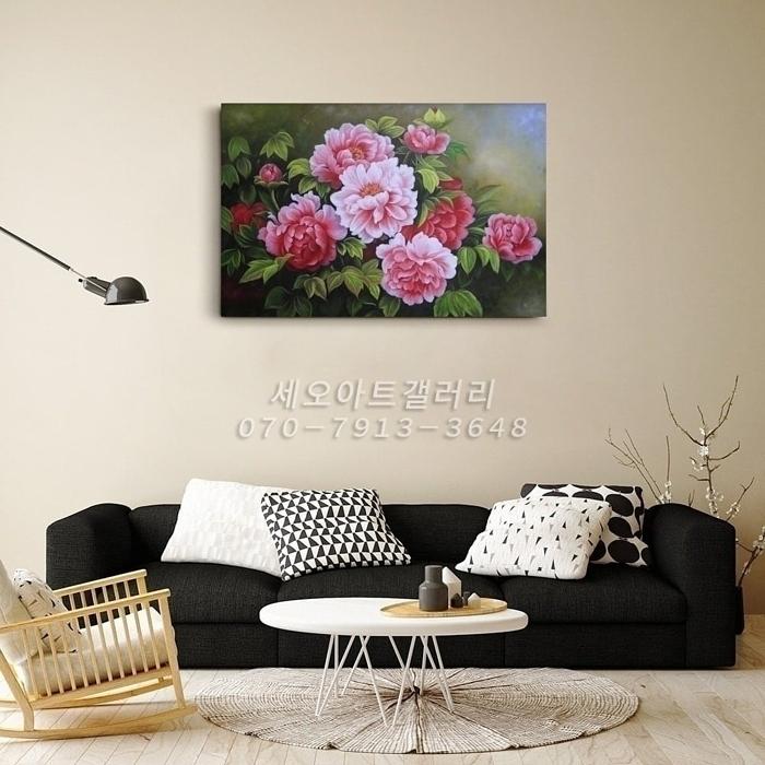부귀화 - 모란꽃 (목단꽃) 그림 1 (90X60CM)