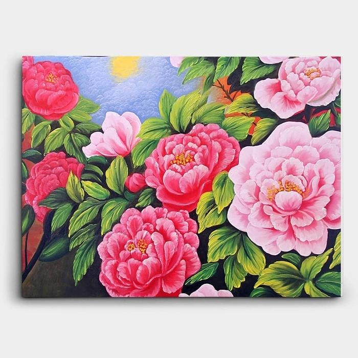 부귀화 - 모란꽃 (목단꽃) 그림 4 (70X50CM) 1