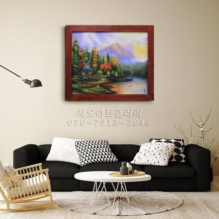 풍경화 - 풍수에 좋은 그림 (50X60CM)