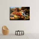 초원에 앉아있는 호랑이 그림 (90X60CM)