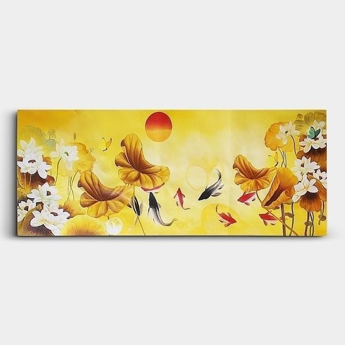 황금 잉어 그림 40X80 유화