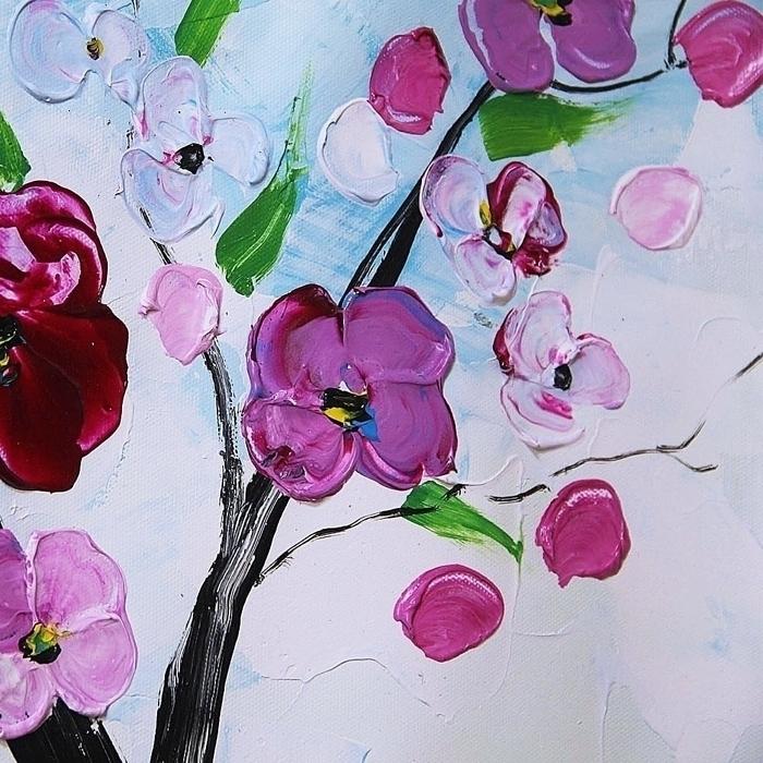 유화 꽃 그림 8 (60X60CM)