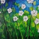 유화 꽃그림 (40X80CM)