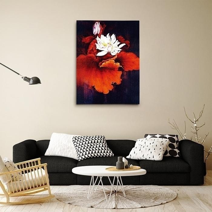 연꽃 그림 5 (80X60CM)
