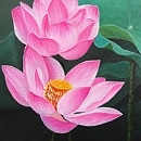 연꽃 그림 6 (60X120CM)