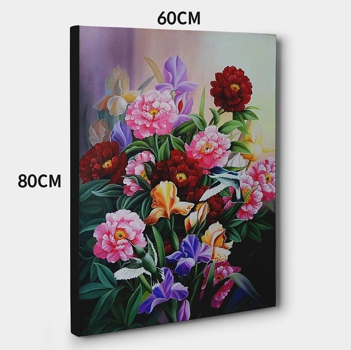모란꽃 (목단꽃) 그림 9 (80X60CM)