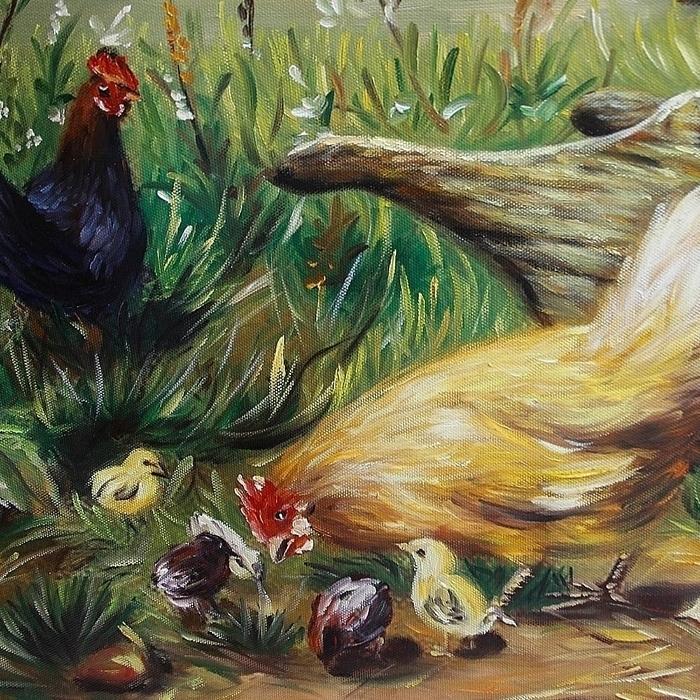 닭 그림 (80X60CM)