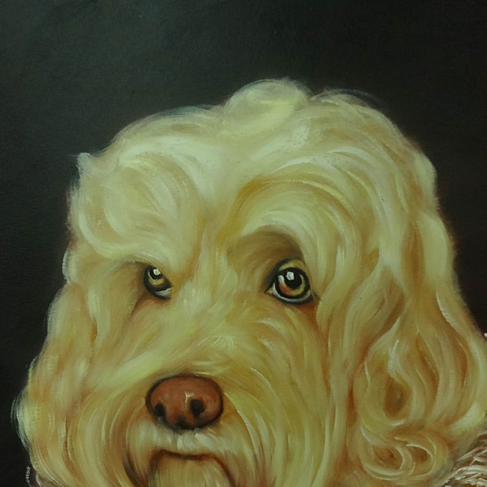 강아지 그림 - 강아지 백작 2 (80X60CM)