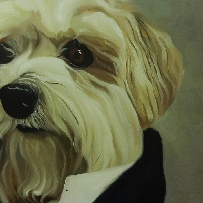 강아지 그림 - 강아지 백작 (80X60CM) 3