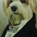 강아지 그림 - 강아지 백작 (80X60CM) 5