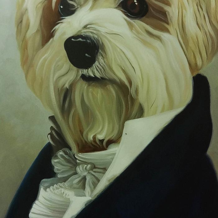강아지 그림 - 강아지 백작 (80X60CM) 2