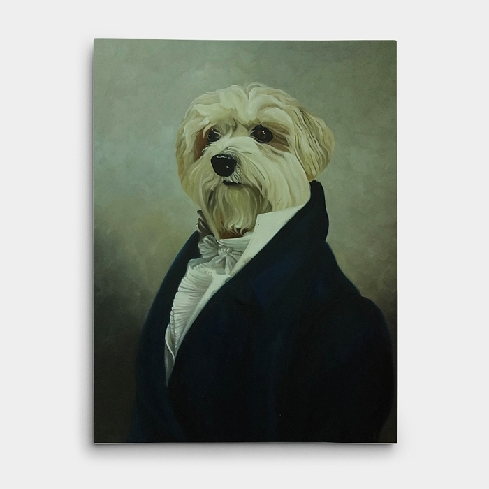 강아지 그림 - 강아지 백작 (80X60CM) 1