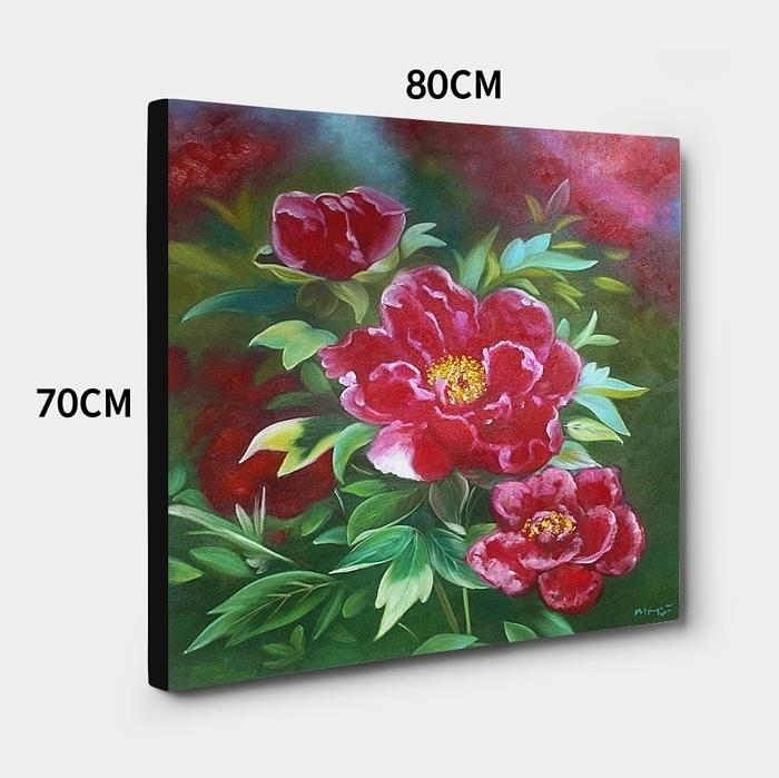 모란꽃 (목단꽃) 그림 10 (70X80CM) 2