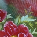 모란꽃 (목단꽃) 그림 10 (70X80CM)