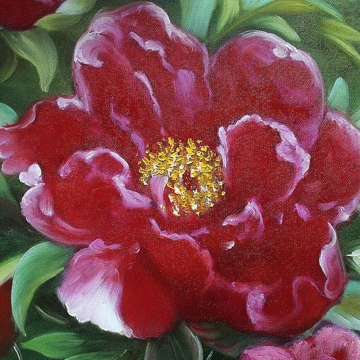 모란꽃 (목단꽃) 그림 10 (70X80CM) 3