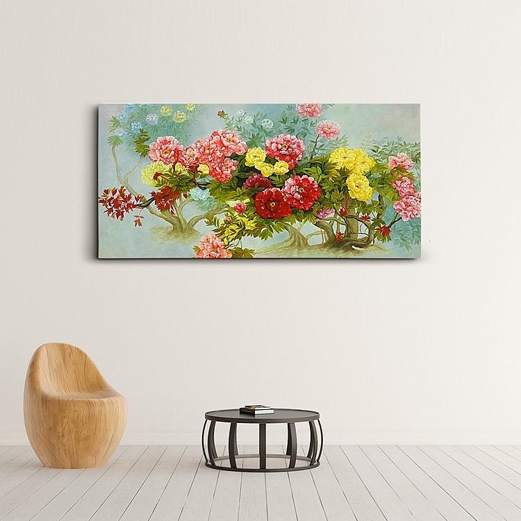 모란꽃 (목단꽃) 그림 12 (125X65CM)