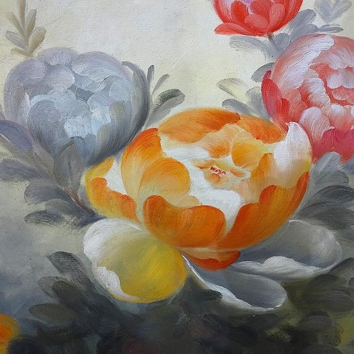 모란꽃 (목단꽃) 그림 11 (50X95CM)