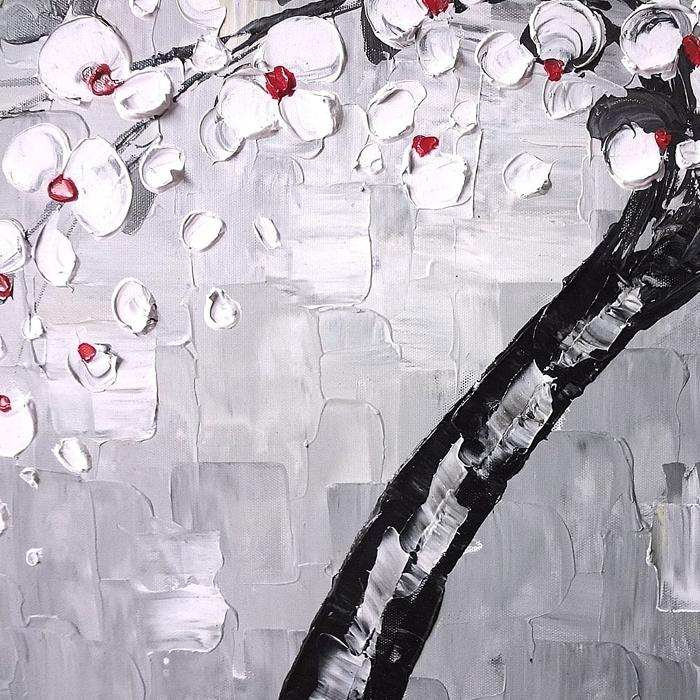 유화 나무 그림 (100X50 CM)