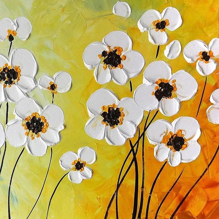 유화 꽃그림 12 (100X50CM)