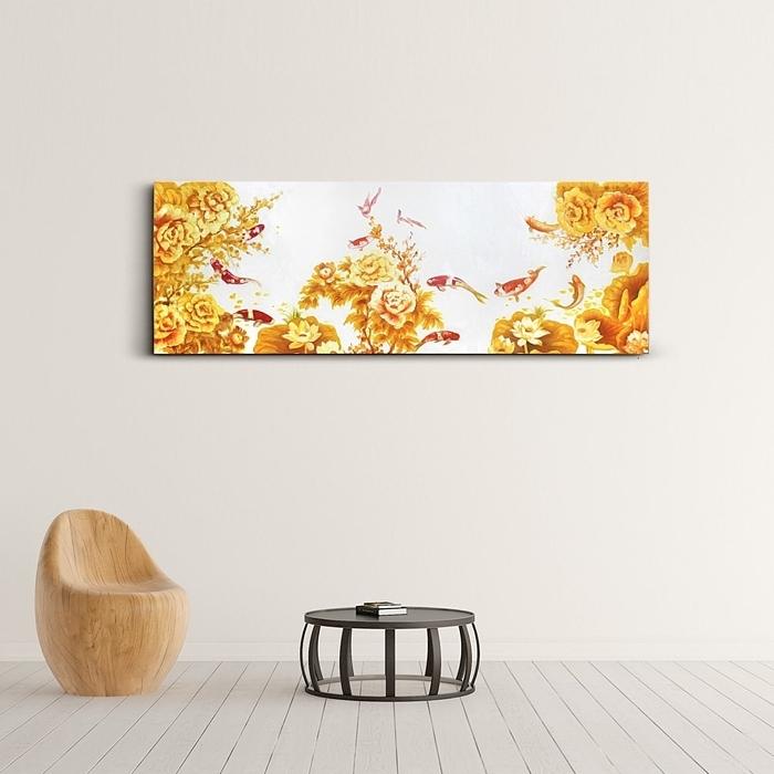 황금잉어 구어도 그림 2 (40X100CM)