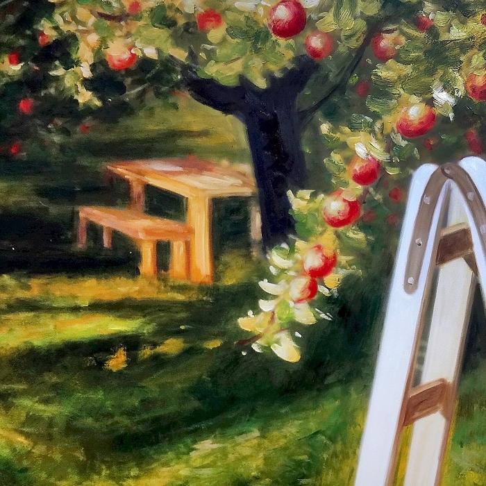 사과 그림 (100X70CM)