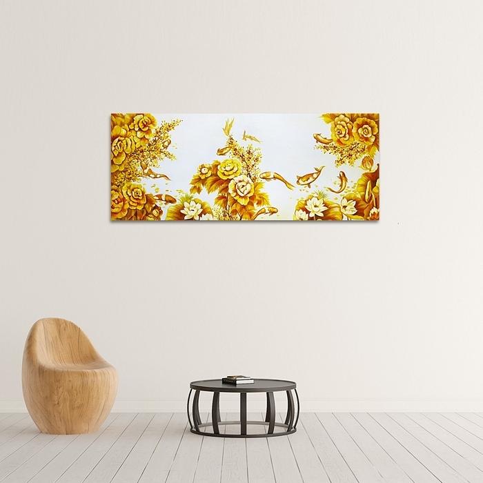 황금 잉어 그림 3 (100X40CM)