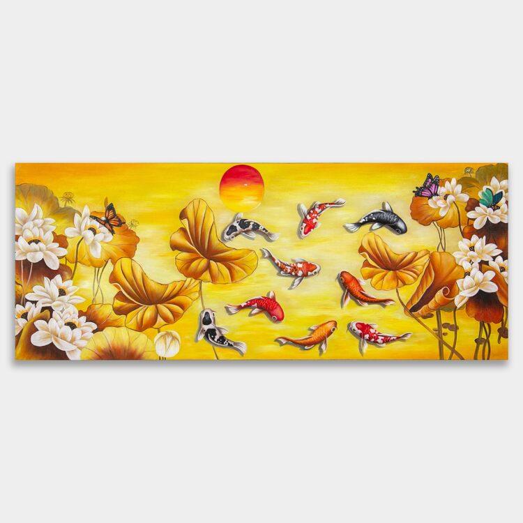 황금 잉어 그림 5 (100X40CM)
